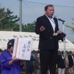 開会式 会長のあいさつ東日本大震災義捐金の協力を呼びかけ10万2千円集まる