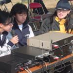 阿字ヶ浦中学校の生徒がお手伝い素敵な声で楽しい放送