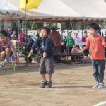 阿字ヶ浦小学校 低学年ぴょんぴょんパンダ 障害物競走縄跳びでぴょんぴょん
