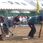 阿字ヶ浦小学校 高学年 ぐるぐるパンダ 障害物競走ぐるぐる目が回る!