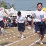 阿字ヶ浦中学生全員リレースタートダッシュ!